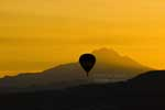 balloon at dawn